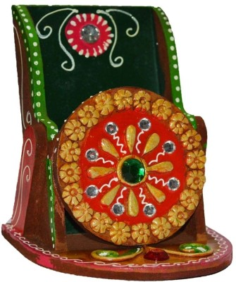 eCraftIndia Papier-Mache Kundan Mobile Holder Showpiece  -  12.7 cm