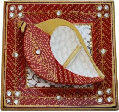 Handicrafts Paradise Marble Roli Tika Holder Showpiece  -  2.5 cm