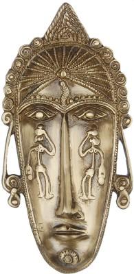 Aakrati Wall Decorative Statue Showpiece  -  2 cm(Brass, Gold)