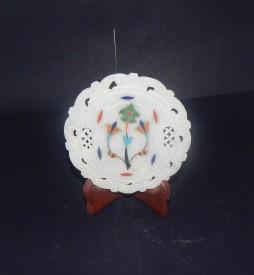 mahaveer creation Showpiece - 12 cm(Stoneware, White)