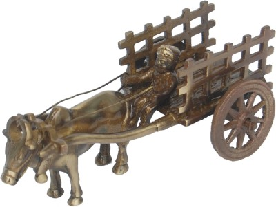 Aakrati Table Decoration Metal Cart Showpiece - 7 cm