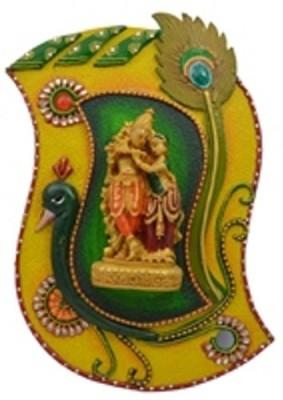 Fab Rajasthan Morpankhi Radha Krishna Showpiece  -  16 cm
