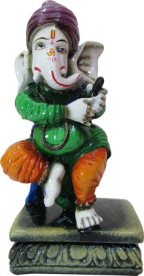 Speakfortune Pagdi Ganesha In Dancing Position -Religious Item For Prosperity Showpiece  -  20 cm