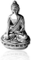 E-Studio Buddha Showpiece  -  19 cm(Silver Plated, Silver)
