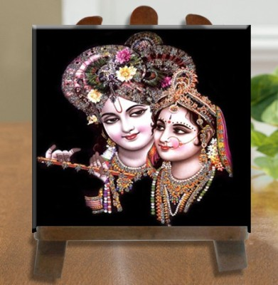 Tiedribbons Radhe Krishna Tile Showpiece  -  26 cm(Ceramic, White)