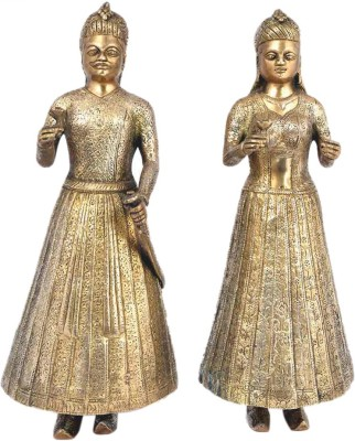 IndianShelf Emporer Statue Showpiece  -  36.8 cm(Brass, Gold)