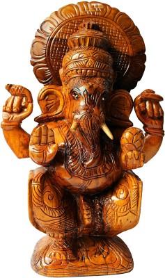 HAASTIKA WOODEN-Padma Ganesh Showpiece  -  36 cm