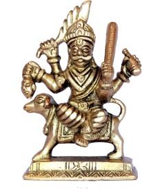 nayra antique Showpiece - 18 cm(Brass, Gold)