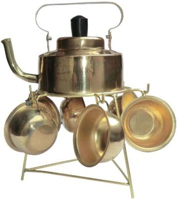 Inspiration World Brass Miniature pots Showpiece  -  10 cm