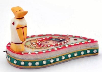 Surya Elegant Sindoor-Box Showpiece  -  12 cm