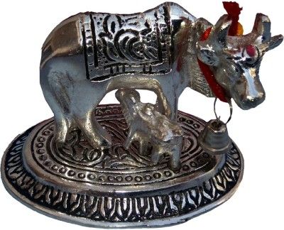 Anant Kamdhenu Cow With Calf Gai-Bachra Idol Showpiece  -  6 cm