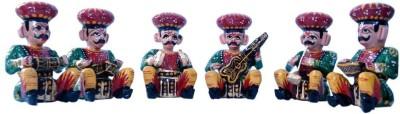 Stylla Shoppers 6 Piece Musician Bawla Set Showpiece  -  7 cm