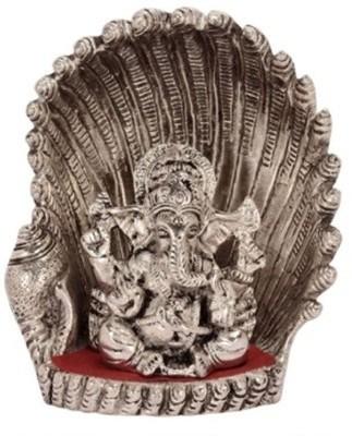 EtsiBitsi Etsibitsi White Metal Designer Ganesha Showpiece Showpiece  -  15 cm