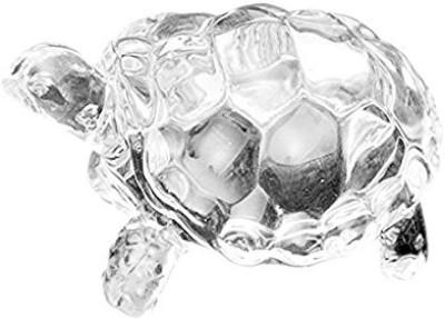 Choti Traders Crystal Clear Turtle Showpiece - 5 cm(Crystal, Clear)