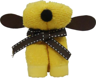 Gift-Tech Towel Dog Bow Gift For Your Dear One Showpiece  -  9 cm