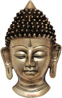 Cosmo-Craftvilla BUDDHA MASK / buddha face statue Showpiece  -  20 cm(Brass, Gold)