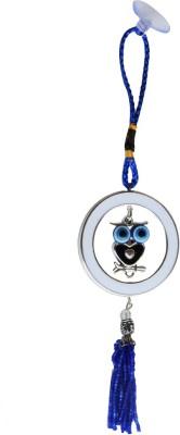 Anjalika Feng Shui Wise Owl Hanging with Round Shaped Evil Eye Showpiece - 23 cm