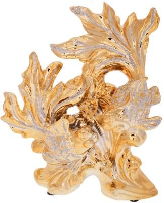 Dharmaraj Links Fish Golden Showpiece  -  28 cm
