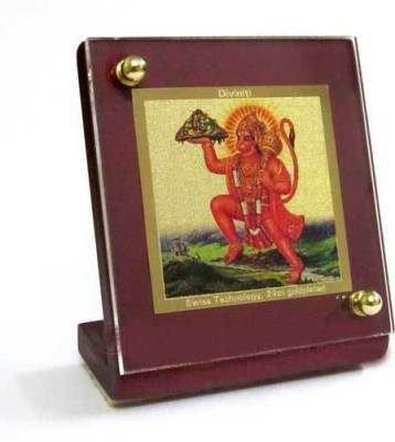 Sitare Lord Hanuman Swizz made 24 kt Gold Foil Showpiece  -  6.0 cm