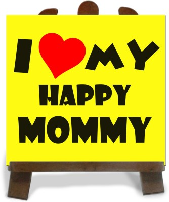 Tiedribbons Gifts For My Happy Mom Tile Showpiece  -  28 cm