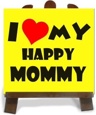 Tiedribbons Gifts For My Happy Mom Tile Showpiece  -  28 cm(Ceramic, Multicolor)