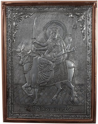 Kapasi Handicrafts Oxidize Copper Goddess Umiya Wall Piece Showpiece  -  2.5 cm