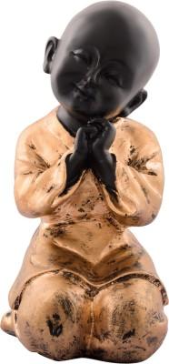 eCraftIndia Golden Child Monk Showpiece  -  20 cm(Polyresin, Red, Brown)