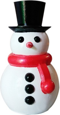 Fancy Interio Snowman With Black Hat Showpiece  -  10.2 cm