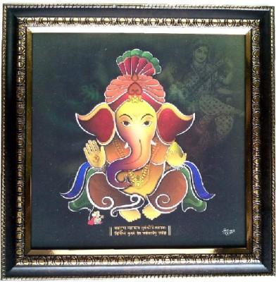 Divine Temples Showpiece  -  25 cm(Wooden, Multicolor)