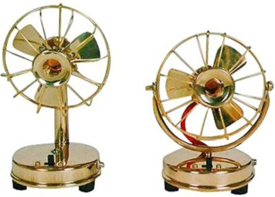 Homedesires Brass Fan Showpiece  -  15 cm(Brass, Gold)