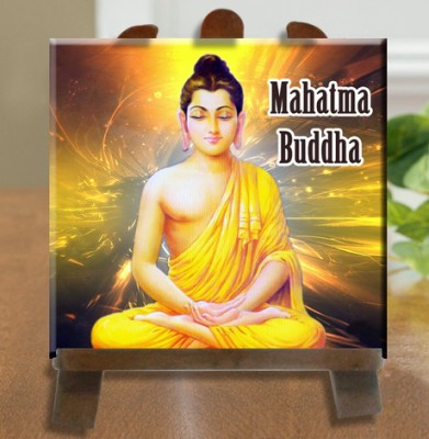 Tiedribbons Mahatma Buddha Idol Tile Showpiece  -  26 cm(Ceramic, White)