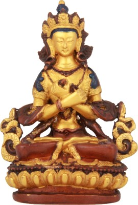 Adaa Lord Shiva Meditating On Lotus (Gold) Showpiece  -  12.5 cm