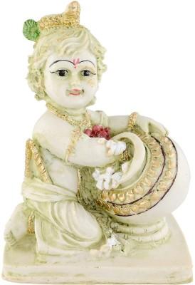 EtsiBitsi EtsiBitsi Makhan Chor Krishna Green Shade Showpiece  -  15 cm