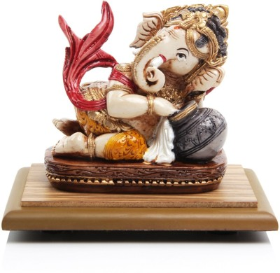 Adaa Bal Ganesha with Butter pot (Red) Showpiece  -  10 cm