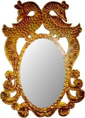 Indian Traditional Stores Handcraftedwooden Mirror Showpiece  -  50 cm