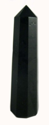 Vastu arcade Black Tourmaline stone reiki stick,pencil,wand 35-35 gm for Remove Negetivity,stress and Increase energy Showpiece  -  6 cm