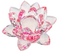 Starstell 2 Inch Crystal Lotus Flower Pink Hue Reflection Showpiece  -  5 cm(Crystal, Clear)