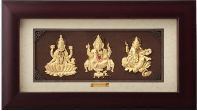 Aarya 24kt Solid Mini Trio Showpiece  -  18 cm