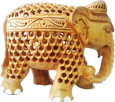 Decor Tattva Inc. Kadam Wood Beautiful Carved Elephant Showpiece  -  10 cm