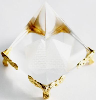 Brndey Crystal pyramid Showpiece  -  7 cm
