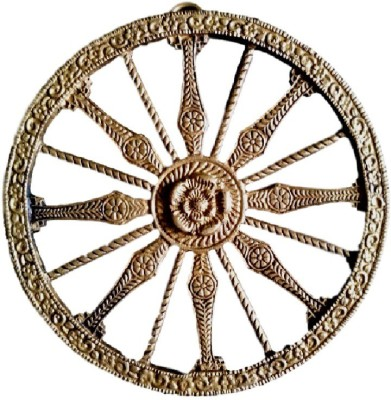 Divine Temples Brass Chakra Wall Decor Showpiece  -  0.5 cm