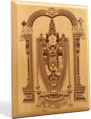 Tiedribbons Tirupati Bala Ji Engraved Plaque Showpiece  -  18 cm(Wooden, Brown)