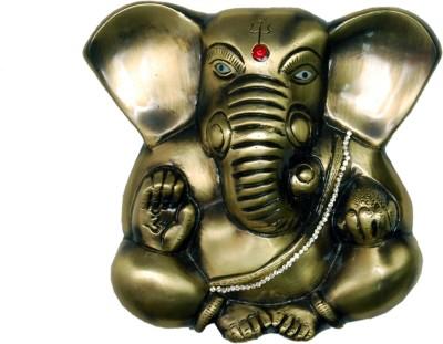 KT Hardware Solutions Antique Appu Ganesha Wall/Door Hanging (14 cm X 15 cm) Showpiece  -  14 cm