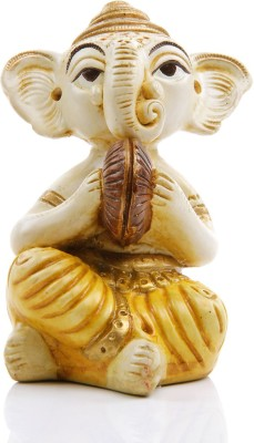 Adaa Lord Ganesha with Musical Instrument - Cymbals Showpiece  -  12.5 cm