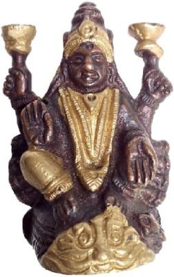 Divine Temples Antique Brass Lakshmi Statue Showpiece  -  5.5 cm(Brass, Gold)