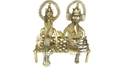 Rays Creative Art Lakshmi Ganesh Ji Showpiece  -  14 cm