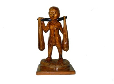 MadeInIndiaGallery Showpiece  -  33 cm(Wooden, Brown)