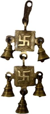 SI Diesel Si diesel brass idol Gift-Hanging Swastik Bells Showpiece  -  23 cm