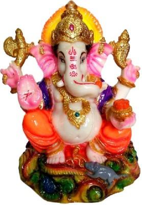 Divine Temples Colorful & Attractive Ganesha Showpiece  -  15 cm(Polyresin, Multicolor)