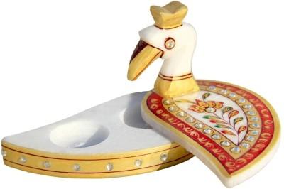 Handicrafts Paradise Marble Tika Holder Showpiece  -  7.5 cm